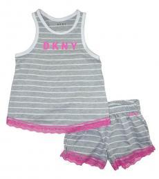 DKNY 2 Piece Tank/Shorts Set (Little Girls)