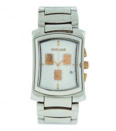 Roberto Cavalli Silver Tomahawk Chronograph Watch