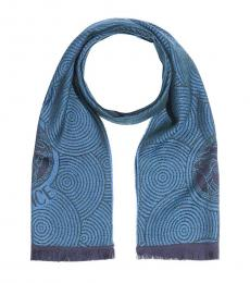 Versace Blue-Purple Dainty Scarf