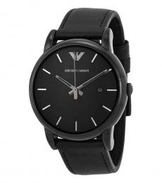 Emporio Armani Black Classic Black Dial Watch