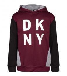 DKNY Boys Burgundy Logo Sweatshirt