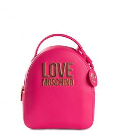 Love Moschino Pink Logo Mini Backpack