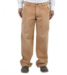 Armani Jeans Brown Carpenter Relaxed Jeans