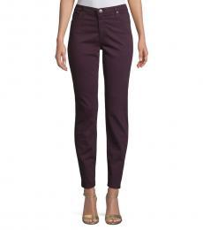 AG Adriano Goldschmied Deep Plum Prima Sateen Skinny Jeans