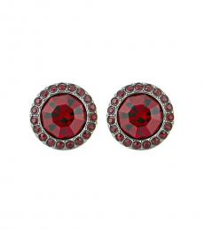 Red Color Crush Stud Twinkling Earrings