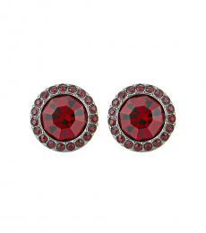 Michael Kors Red Color Crush Stud Twinkling Earrings
