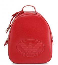 Red Eagle Logo Medium Backpack