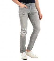 Diesel Grey Stretch Denim Tepphar Jeans