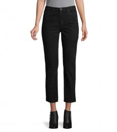 AG Adriano Goldschmied Black High-Rise Cropped Jeans