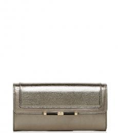Pewter Flap Metallic Wallet
