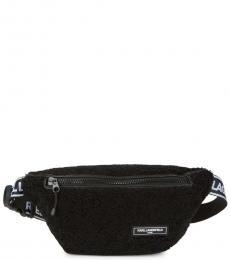 Karl Lagerfeld Black Apres-Ski Belt Bag