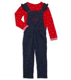 BCBGirls 2 Piece Overalls/Top Set (Little Girls)