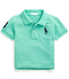 Ralph Lauren Baby Boys Key West Green Mesh Polo