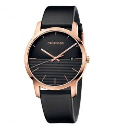 Black-Rose Gold City Watch