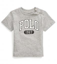 Ralph Lauren Baby Boys Andover Heather Logo T-Shirt