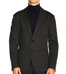 Fay Black Single-Breasted Jacket