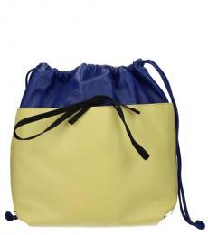 Marni Blue/Cedar Drawstring Large Backpack