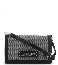 Love Moschino Black Studs Medium Crossbody