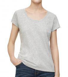 Calvin Klein Light Grey Scoop Neck T-Shirt