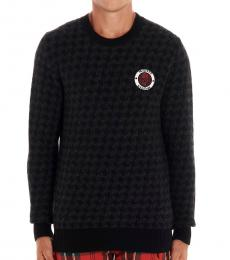 Black Logo Patch Sweater