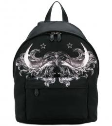 Givenchy Black Graphic Large Backpack