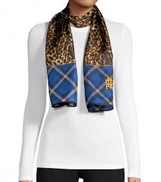Blue Angelina Plaid Oblong Scarf