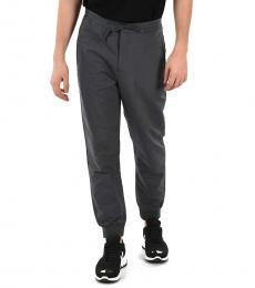 Emporio Armani Dark Grey Drawstring Pants