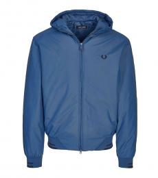 Fred Perry Blue Logo Bomber Jacket