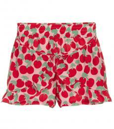 Stella McCartney Girls Red Cherry Shorts
