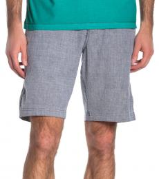 Blue-Beach Flat Front Shorts