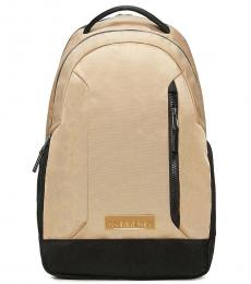 Travertine Double Zip Large Backpack