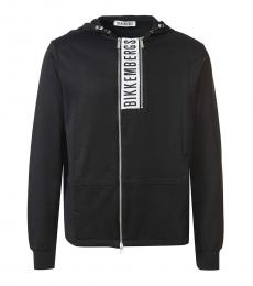Bikkembergs Black Logo Zipper Jacket