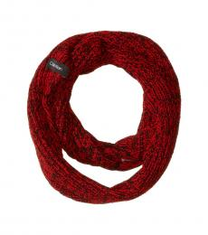 Calvin Klein Process Red Chunky Marled Loop Scarf