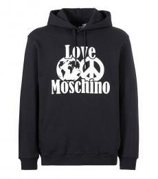 Love Moschino Black Graphic Logo Hoodie