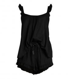 UGG Black Ruffled 2-Piece Camisole & Shorts Set