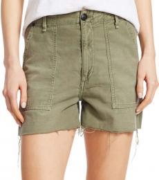 Rag And Bone Olive High Rise Army Shorts