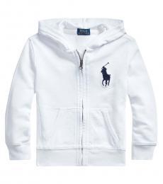 Ralph Lauren Little Boys White Big Pony Hoodie