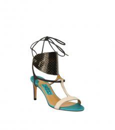 Salvatore Ferragamo Multicolor Lace Up Leather Heels