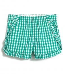 J.Crew Girls Green Gingham Shorts