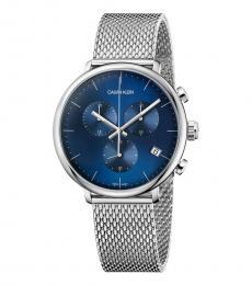 Calvin Klein Silver-Blue Chronograph Watch
