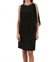 Just Cavalli Black Glittered Dress