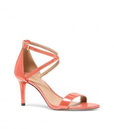 Michael Kors Pink Grapefruit Ava Mid Heels