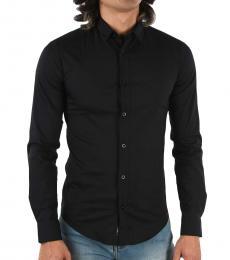 Armani Jeans Black Slim Fit Shirt