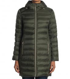 Michael Kors Olive Packable Puffer Jacket