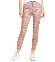 7 For All Mankind Light Pink High Waist Ankle Skinny Jeans