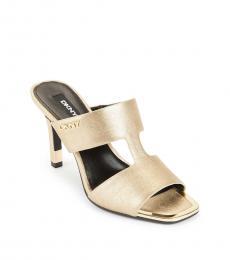 DKNY Gold Baz Dress Heels
