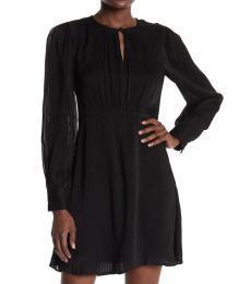 Kate Spade Black Fluid Stripe Dress