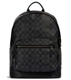 Coach Charcoal Black West Large Backpack