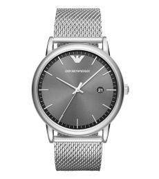 Emporio Armani Metal Grey Dial Mesh Watch