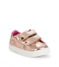 Juicy Couture Baby Girls Rose Logo Double Strap Sneakers